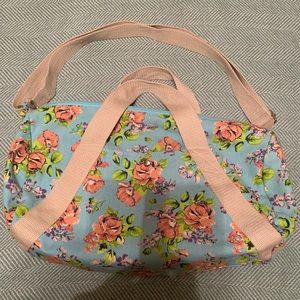 Floral print duffel bag